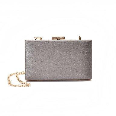 KEY à gray Femme Blanc Polyuréthane clutches Boules Fermoir et SUNNY Pochettes Noir Gris dZwC6aqd