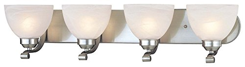 Minka Lavery 5424-84 Paradox 4 Light Bath Bar, Brushed Nickel Finish 84 Paradox Bath Lighting