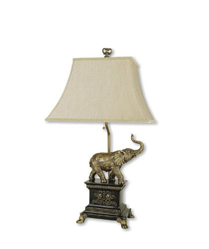 Elephant Table Lamp - Antique Gold
