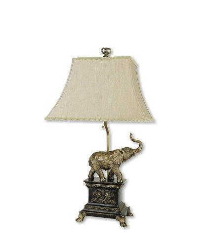ORE International 8203 Elephant Table Lamp, Antique ()