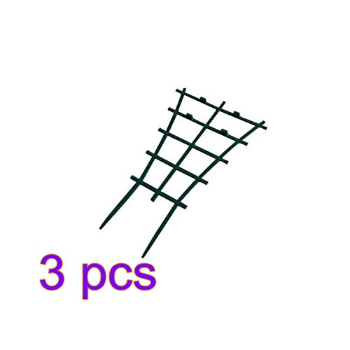 rui tai DIY Garden Plant Support, 6 Pcs Plastic Plant Trellis,Superimposed,Potted Plant Growing Support for Mini Climbing Plant Pot Support Leaf Trellis Green