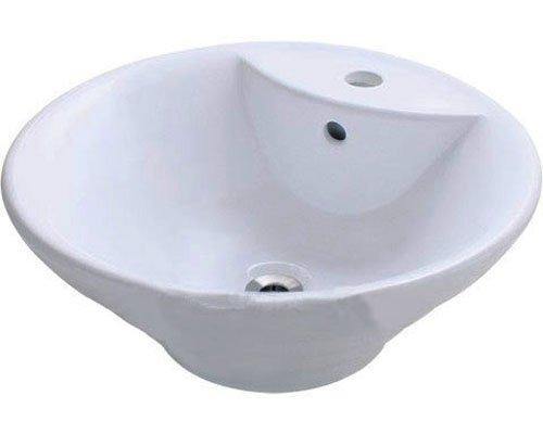 Lenova PAC-10 Porcelain Above Counter Round Sink, White
