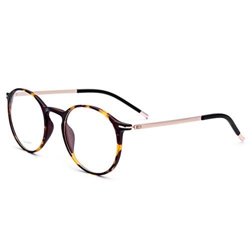 FONEX Men Titanium Alloy Optical Prescription Glasses Frame Eyewear 725 (leopard, - Korean Glasses Frame