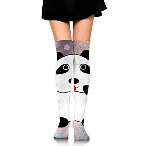 Women's Long Socks Panda Clip Art Long Over Knee High Nursing Sock ()