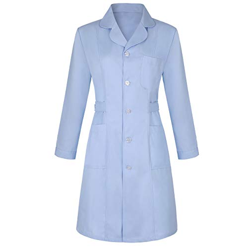 (Medical science lab coats for women physician chemistry jackets white blue pink green long)