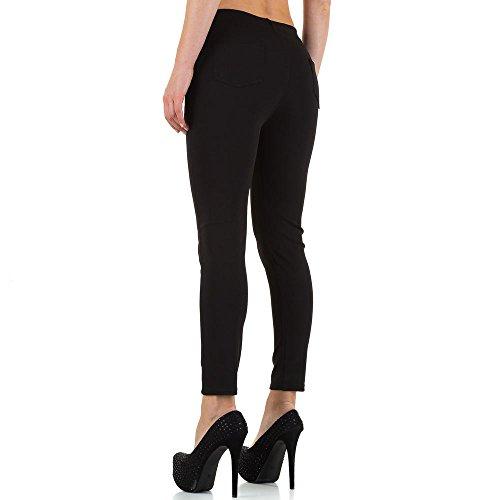 Plus Size Low Skinny Hose Für Damen , Schwarz In Gr. 44 bei Ital-Design