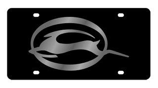 Chevrolet Impala License Plate on Black Steel