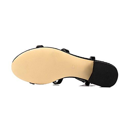 259cd89e46f17 Pailan Women Open Toe Comfy Low Heels Buckle Strappy Sandals Shoes ...