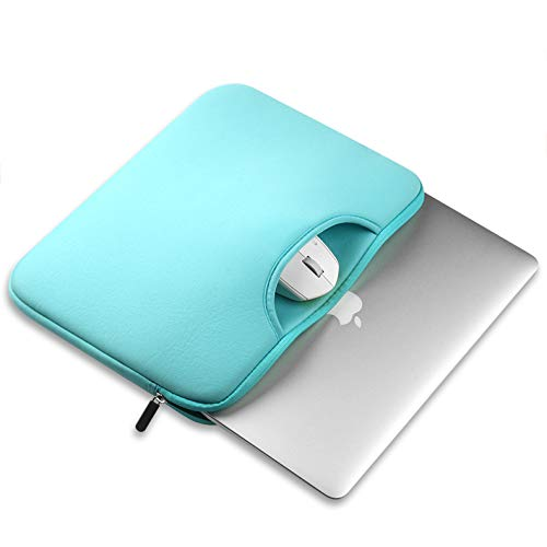 15.6 inch laptop sleeve with handle,MeiLiio handbag Laptop Bags with Mouse Pocket Sleeve Bag for 15.6 Inch Laptop, Notebook, MacBook Air/Pro (Light Blue) by MeiLiio (Image #2)