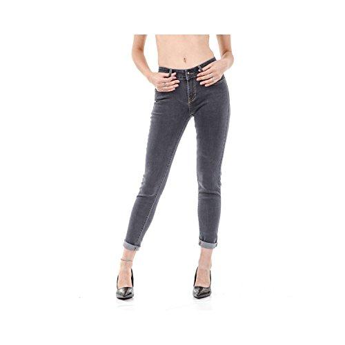5 Scuro Fit Tasche Skinny Denim Black Da Jeans Pantaloni Donna In wqA7X7z