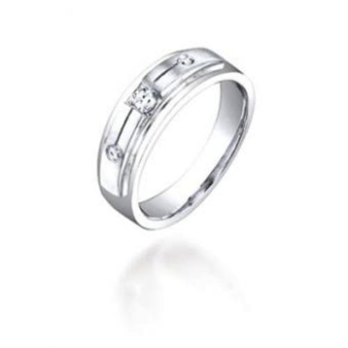 0.12CT Diamond Lady's Band set in 5.8GR of 14K White Gold