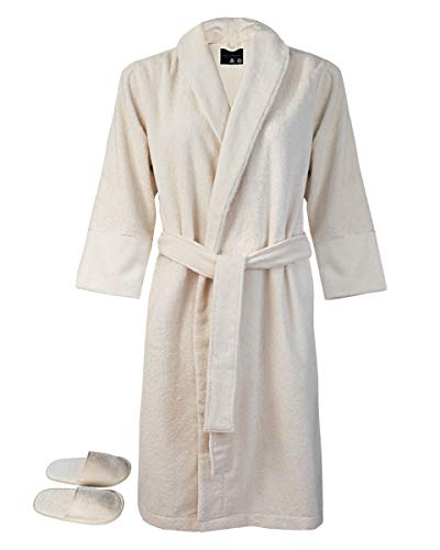 Armani International Classique Bath Robes Slippers Set XX-Large Natural