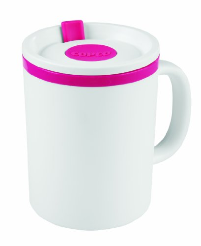 (Copco 2510-1115 Iconic Double Wall Insulated Desk Mug, 16-Ounce, Pink)