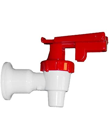 White Cooler Faucet, Red Touch Guard - Replaces Oasis 032135-014