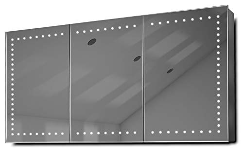 DIAMOND X COLLECTION Bryani LED Bathroom Mirror Cabinet with Demister Pad, Sensor -
