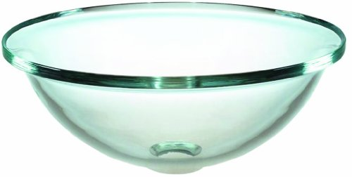 Pegasus GVS-165-BEL Above Counter Round Glass Vessel Sink, Clear ()
