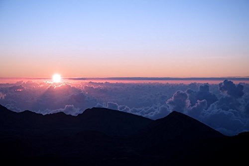 Maui Sunrise, Haleakala Volcano Crater National Park, Hawaii, Nature Decor, Art Print Photograph