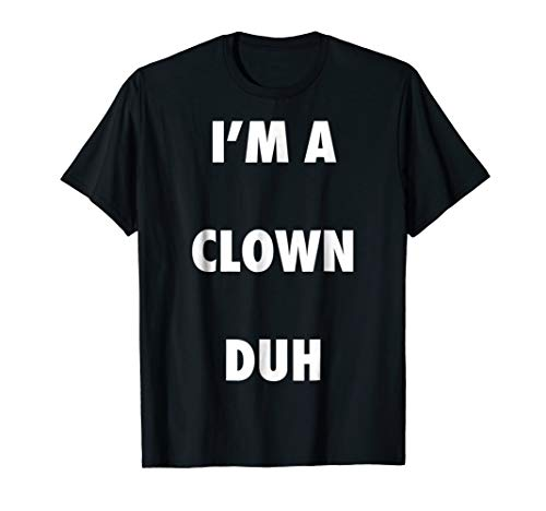 Easy Halloween Clown Costume Shirt for Men Women Kids ()