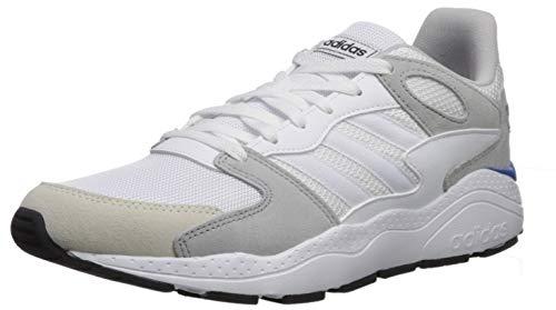 adidas Men's Chaos Sneaker, White/Grey, 9.5 M US (Adidas Sneakers Men White)