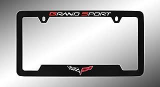product image for Chevrolet Corvette C6 Black Metal License Plate Frame Holder, Bottom Engraved 4 Hole