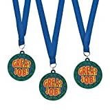 Lot of 12 Great Job! Rubber Medal Ribbons Achievement Awards