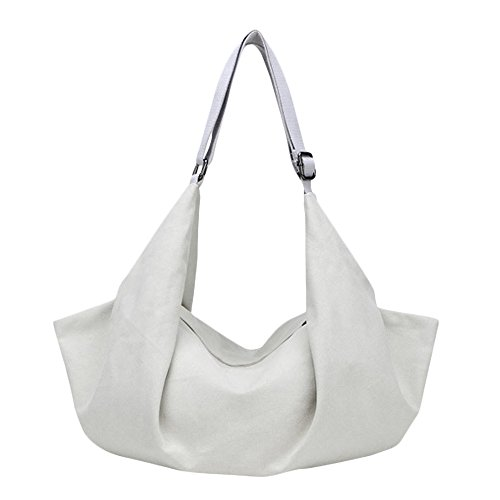 Boat Slouchy White Shape Canvas Tote Bag Women's Hobos Flowertree Shoulder pWqaxEw7U