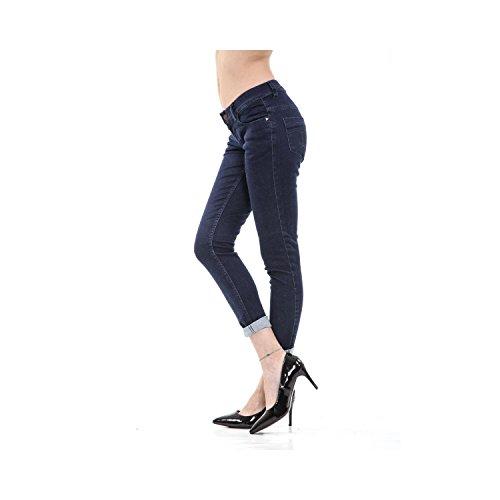 Da Denim Scuro Pantaloni Jeans Skinny In Scuro 5 Rum Denim Blu Donna Tasche Blu Jungle Fit 7va5qaw