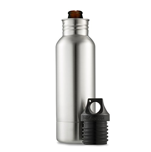 Stainless Steel Bottle Holder - BottleKeeper - The Original Stainless Steel Beer Bottle Holder and Insulator to Keep Your Beer Colder
