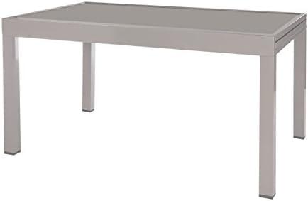 Table de jardin extensible 135/270 en aluminium gris et ...