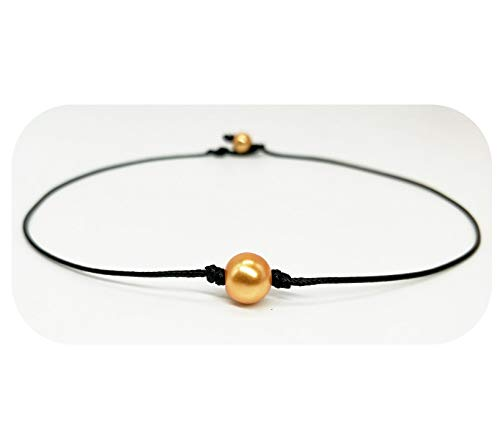 Hundred River Gold Pearl Choker (Gold 1)