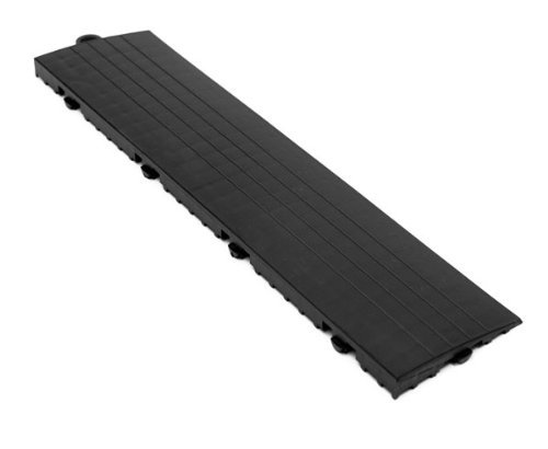 IncStores Grid Loc Edge & Corner Pieces - Snap Together Tile to Floor Transition Border Accessories (Male Edge Pieces - 4 Pack, Graphite)