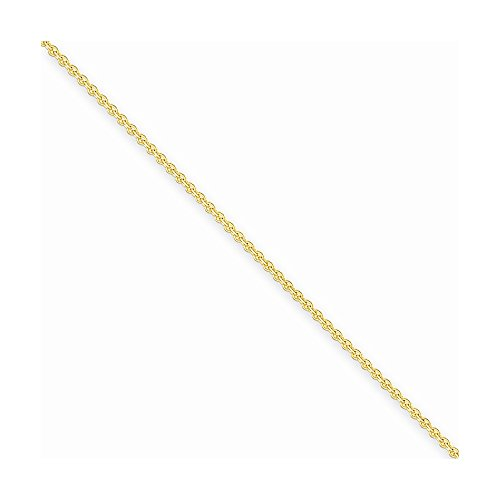 Women'S Cable Chain Anklet in Yellow Gold - 14kt - Lobster Claw - Graceful