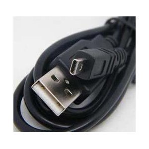 USB UC-E6, UC, E6, UCE6, YM080315 - Cable Cord Lead Wire for Nikon Coolpix - D5000, S10, S30, S200, S210, S230, S4, S500, S510, S520, S560, S570, S600, S620, S630, S640, S70, S710, S80, S9 Digital Camera Cable - 5 Feet Black - Bargains Depot®
