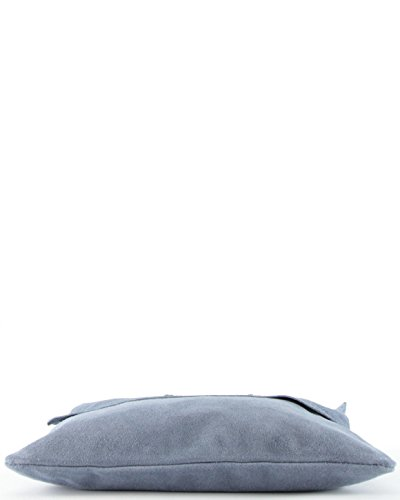 histoireDaccessoires - Bolso con Bandolera de Cuero de Mujer - SA000621GA-Salvatore Gris oscuro