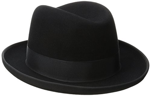 - Stetson Men's Homburg Royal Deluxe Fur Felt Hat, Black, 7