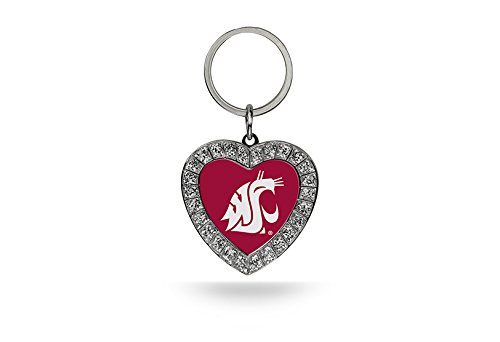 Rico NCAA Washington State Cougars Rhinestone Heart - Cougars Washington State Key