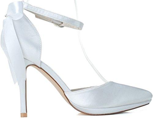Blanc Blanc CFP 5 36 Femme Bride Cheville OqwnaUZR