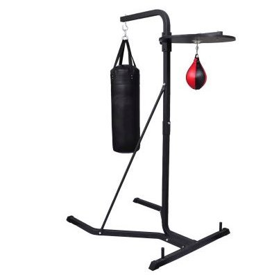 SKB Family Box Stand 2-Way boxing steel frame sport<br>Color: Black and red by SKB family