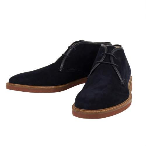 - Ermenegildo Zegna Men's Navy Suede Leather Chukka Boots Shoes US 7.5 EU 8.5 Blue