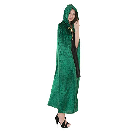 Spooktacular Creations Hooded Velvet Cloak Halloween Women