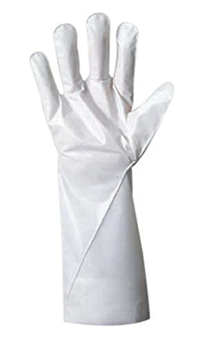 Ansell Size 8 White Barrier 380 - 410 mm Non-Woven Lined 2.5 mil Five Layer Laminated Film Hand Specific Chemical Resistant Gloves