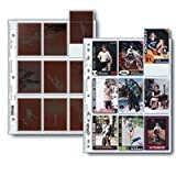 Print File 120 Size Negative Pages Holds Nine Individual 6x7 Sleeved Frames or Collectable Cards, Pack of 500