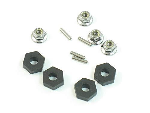 ICB Hobbies TRAXXAS TMAXX 2.5 14MM Steel HEX Wheel Drive HUBS & Lug Nuts 4959 4955 5147X