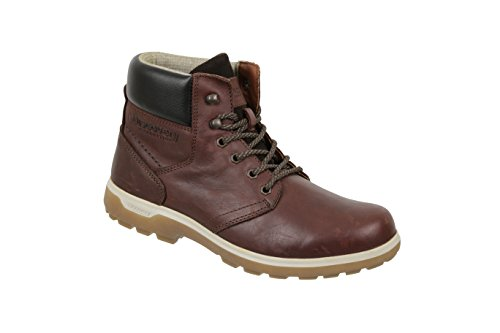 Pictures of Discovery Expedition Mens Leather High Top Lace Up Hiking Boot Brown Size 12 6