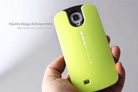 Samsung Galaxy S4 GT i9500 ONEYE policarbonato resistente con + Titular en Green incluye protector de pantalla por VERUS