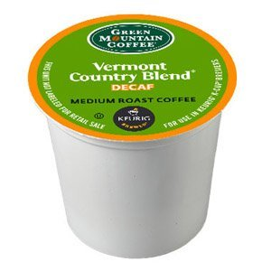 Blend K-cups Country Vermont (Green Mountain Coffee K-Cup(R) Packs - Vermont Country Blend DECAF - 24ct Box)