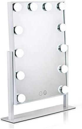 LILIS 化粧鏡 化粧ミラー 鏡 女優ミラー 12個の調光可能なLED電球を持つ大規模なデスクトップの化粧鏡、バスルーム、ベッドルーム、ドレッシングルーム洗面化粧台の鏡