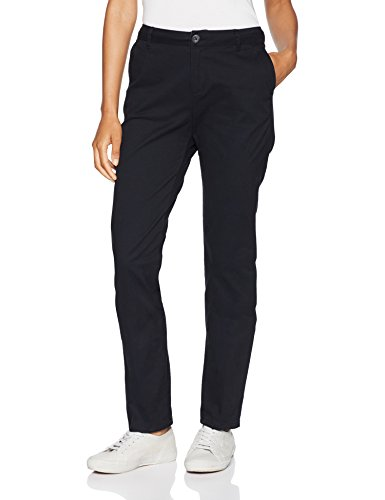 Amazon Essentials Women's Straight-Fit Stretch Twill Chino Pant, Black, 14 Regular by Amazon Essentials