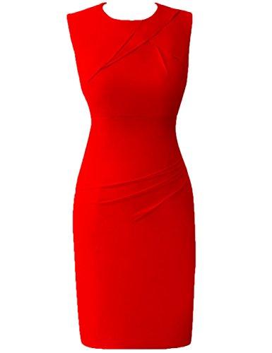de HUINI Vestidos Formal mujeres las Moda gala C¨®ctel Trabajo Corto Oficina De Trajes Rojo Gasa x8O4wx