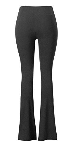 Sejora Satina High Waisted Flare Palazzo Wide Leg Pants | Printed & Solid | reg & Plus (Medium, 1 Black) by Sejora (Image #5)